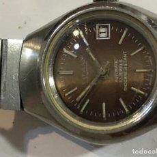 Relojes automáticos: RELOJ TITÁN AUTOMÁTICO EN ACERO COMPLETO CON BONITA CORREA VINTAGE . Lote 98658567