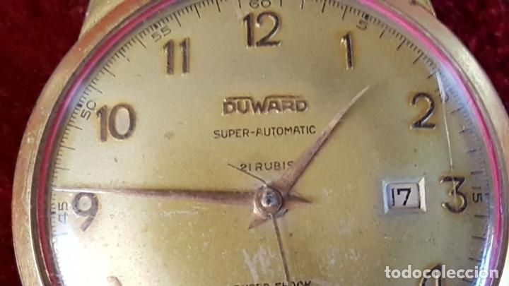 Relojes automáticos: RELOJ DE PULSERA. DUWARD SUPER AUTOMATIC. SUPER SCHOCK. 21 RUBIS. AÑOS 30/40 - Foto 9 - 98869651