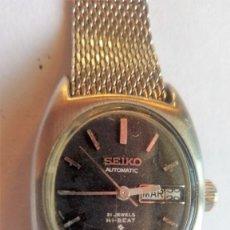 Relojes automáticos: RELOJ SEIKO AUTOMATICO DE SEÑORA, 21 JEWELS HI-BEAT, CORREA DE MALLA ORIGINAL, FUNCIONANDO. Lote 99028179
