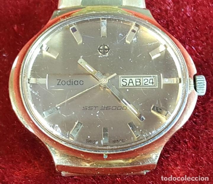 Relojes automáticos: RELOJ DE PULSERA. ZODIAC SST 36000. CHAPADO EN ORO 20 MICRONS. CIRCA 1970. - Foto 3 - 99416191