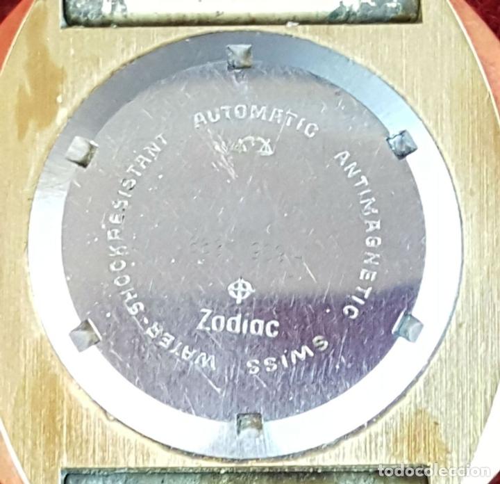 Relojes automáticos: RELOJ DE PULSERA. ZODIAC SST 36000. CAJA EN ACERO CHAPADO EN ORO. CIRCA 1970. - Foto 4 - 99423103