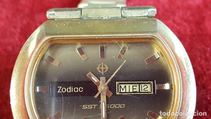 Relojes automáticos: RELOJ DE PULSERA. ZODIAC SST 36000. CAJA EN ACERO CHAPADO EN ORO. CIRCA 1970. - Foto 6 - 99423103