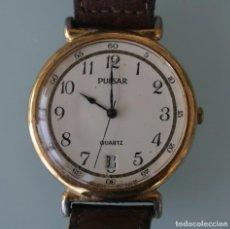 Relojes automáticos: RELOJ PULSERA CABALLERO CUARZO MARCA PULSAR NUMERADO CORREA PIEL ORIGINAL – VINTAGE COLECCIONISTAS. Lote 188449150