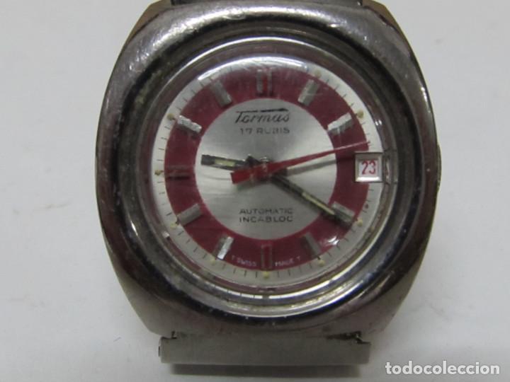 Relojes automáticos: RELOJ DE ACERO TORMAS AUTOMÁTICO, 17 RUBIS - Foto 2 - 118274024