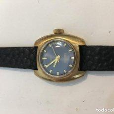 Relojes automáticos: RELOJ AUTOMATICO SUIZO CHAPADO EN ORO 21 RUBIS NUEVO A ESTRENAR. Lote 121035811