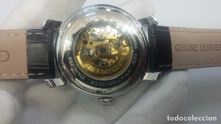 Relojes automáticos: Reloj Skeleton automatic, de caballero, seminuevo, muy bello. - Foto 5 - 101949063
