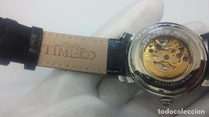 Relojes automáticos: Reloj Skeleton automatic, de caballero, seminuevo, muy bello. - Foto 6 - 101949063