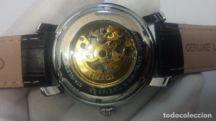 Relojes automáticos: Reloj Skeleton automatic, de caballero, seminuevo, muy bello. - Foto 7 - 101949063