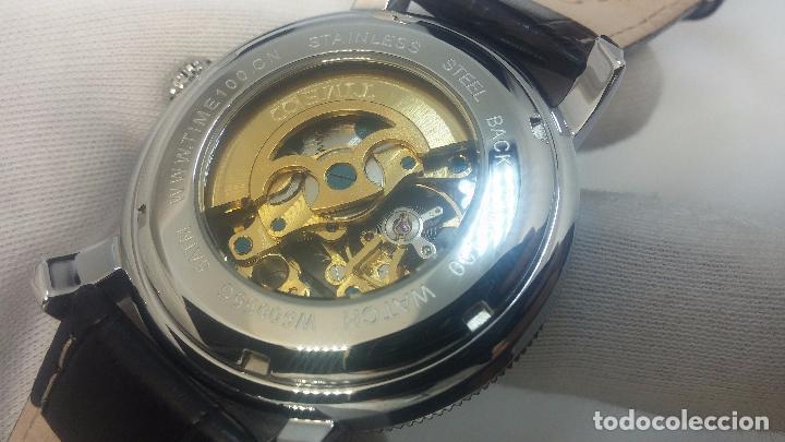 Relojes automáticos: Reloj Skeleton automatic, de caballero, seminuevo, muy bello. - Foto 9 - 101949063