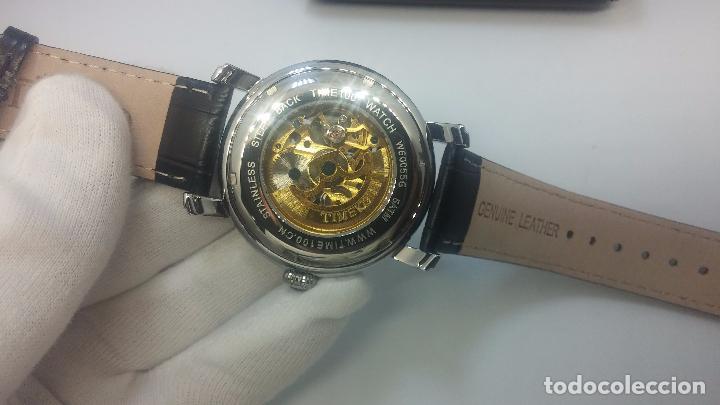 Relojes automáticos: Reloj Skeleton automatic, de caballero, seminuevo, muy bello. - Foto 10 - 101949063