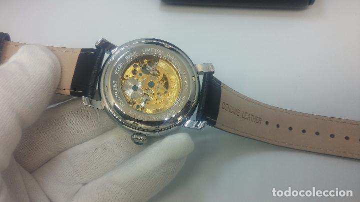 Relojes automáticos: Reloj Skeleton automatic, de caballero, seminuevo, muy bello. - Foto 11 - 101949063