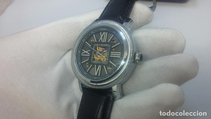 Relojes automáticos: Reloj Skeleton automatic, de caballero, seminuevo, muy bello. - Foto 14 - 101949063