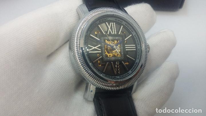 Relojes automáticos: Reloj Skeleton automatic, de caballero, seminuevo, muy bello. - Foto 16 - 101949063