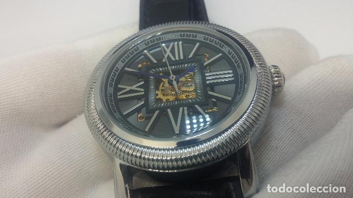 Relojes automáticos: Reloj Skeleton automatic, de caballero, seminuevo, muy bello. - Foto 17 - 101949063