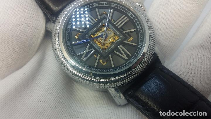 Relojes automáticos: Reloj Skeleton automatic, de caballero, seminuevo, muy bello. - Foto 19 - 101949063