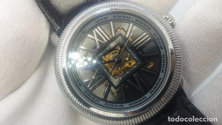 Relojes automáticos: Reloj Skeleton automatic, de caballero, seminuevo, muy bello. - Foto 20 - 101949063