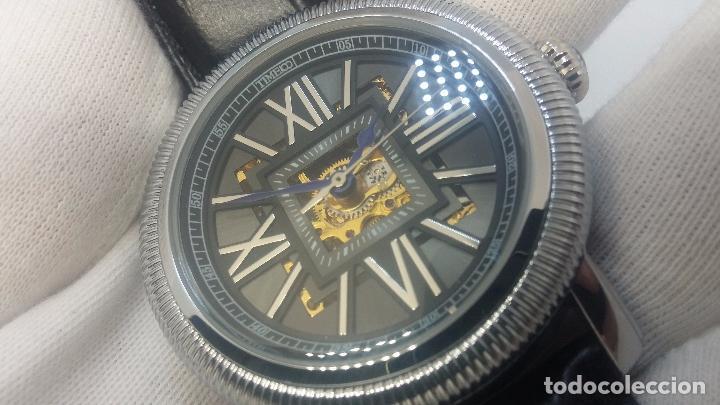 Relojes automáticos: Reloj Skeleton automatic, de caballero, seminuevo, muy bello. - Foto 21 - 101949063