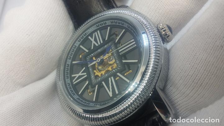 Relojes automáticos: Reloj Skeleton automatic, de caballero, seminuevo, muy bello. - Foto 22 - 101949063