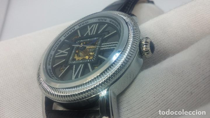 Relojes automáticos: Reloj Skeleton automatic, de caballero, seminuevo, muy bello. - Foto 23 - 101949063