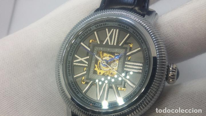 Relojes automáticos: Reloj Skeleton automatic, de caballero, seminuevo, muy bello. - Foto 24 - 101949063