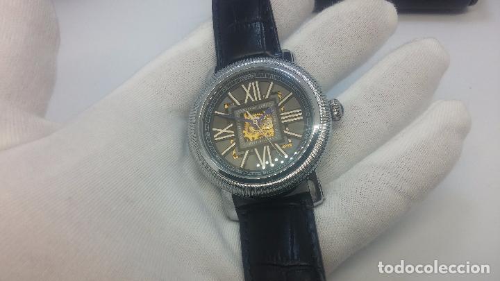 Relojes automáticos: Reloj Skeleton automatic, de caballero, seminuevo, muy bello. - Foto 25 - 101949063