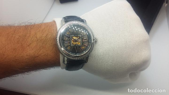 Relojes automáticos: Reloj Skeleton automatic, de caballero, seminuevo, muy bello. - Foto 26 - 101949063