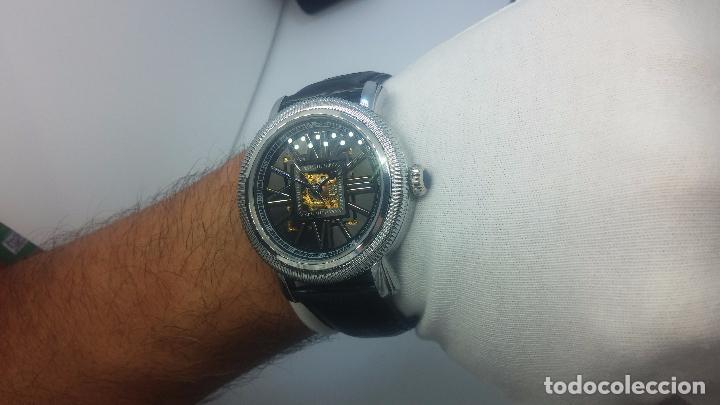 Relojes automáticos: Reloj Skeleton automatic, de caballero, seminuevo, muy bello. - Foto 30 - 101949063