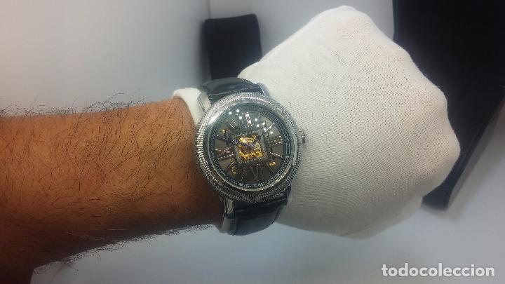 Relojes automáticos: Reloj Skeleton automatic, de caballero, seminuevo, muy bello. - Foto 31 - 101949063