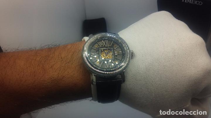 Relojes automáticos: Reloj Skeleton automatic, de caballero, seminuevo, muy bello. - Foto 34 - 101949063