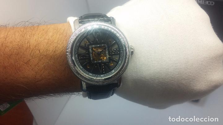 Relojes automáticos: Reloj Skeleton automatic, de caballero, seminuevo, muy bello. - Foto 39 - 101949063