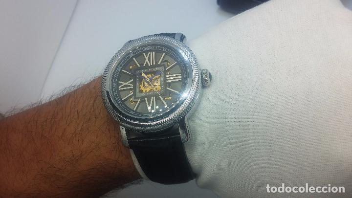 Relojes automáticos: Reloj Skeleton automatic, de caballero, seminuevo, muy bello. - Foto 42 - 101949063