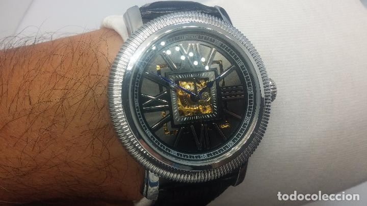 Relojes automáticos: Reloj Skeleton automatic, de caballero, seminuevo, muy bello. - Foto 44 - 101949063