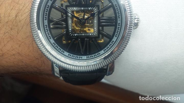 Relojes automáticos: Reloj Skeleton automatic, de caballero, seminuevo, muy bello. - Foto 45 - 101949063