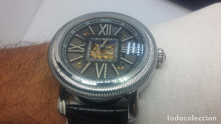 Relojes automáticos: Reloj Skeleton automatic, de caballero, seminuevo, muy bello. - Foto 46 - 101949063