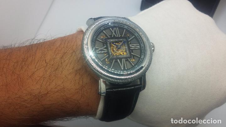 Relojes automáticos: Reloj Skeleton automatic, de caballero, seminuevo, muy bello. - Foto 47 - 101949063