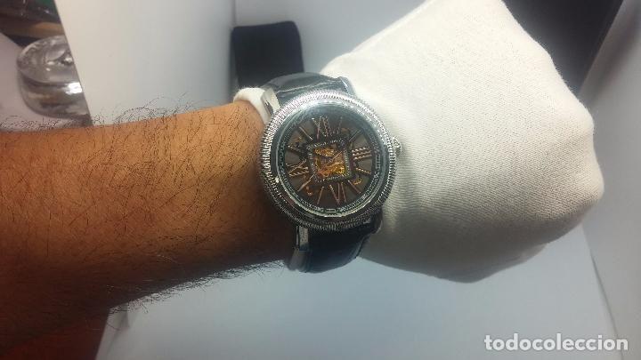 Relojes automáticos: Reloj Skeleton automatic, de caballero, seminuevo, muy bello. - Foto 48 - 101949063