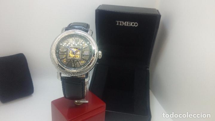 Relojes automáticos: Reloj Skeleton automatic, de caballero, seminuevo, muy bello. - Foto 53 - 101949063