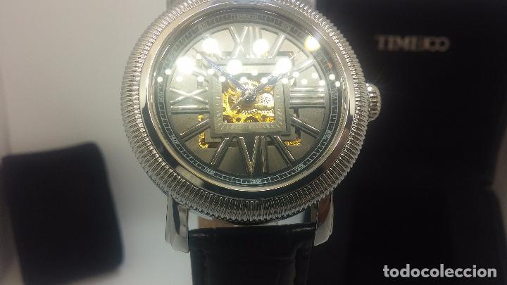 Relojes automáticos: Reloj Skeleton automatic, de caballero, seminuevo, muy bello. - Foto 57 - 101949063