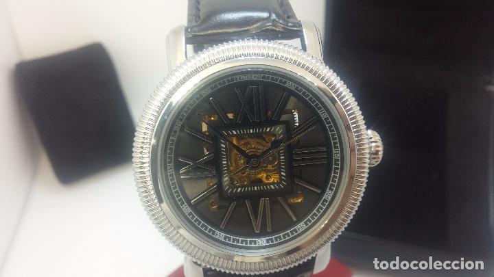 Relojes automáticos: Reloj Skeleton automatic, de caballero, seminuevo, muy bello. - Foto 58 - 101949063