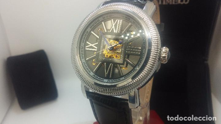 Relojes automáticos: Reloj Skeleton automatic, de caballero, seminuevo, muy bello. - Foto 69 - 101949063