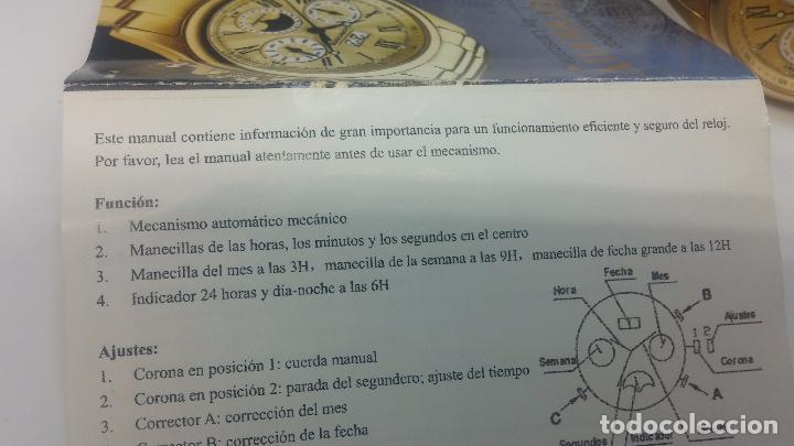 Relojes automáticos: Reloj automatico de caballero Astronomy de Lancoste, seminuevo, dos puestas - Foto 10 - 101950579