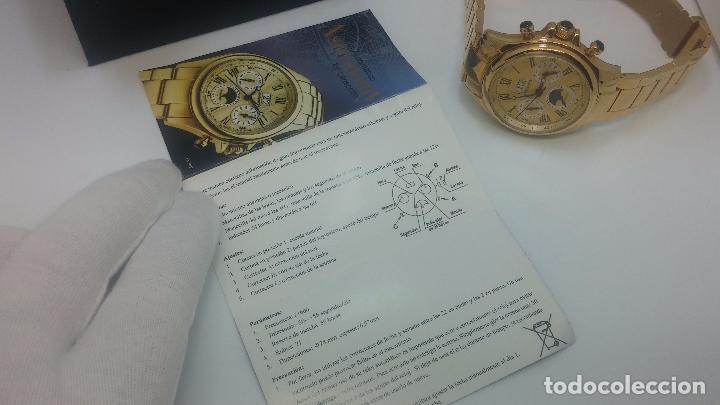 Relojes automáticos: Reloj automatico de caballero Astronomy de Lancoste, seminuevo, dos puestas - Foto 11 - 101950579