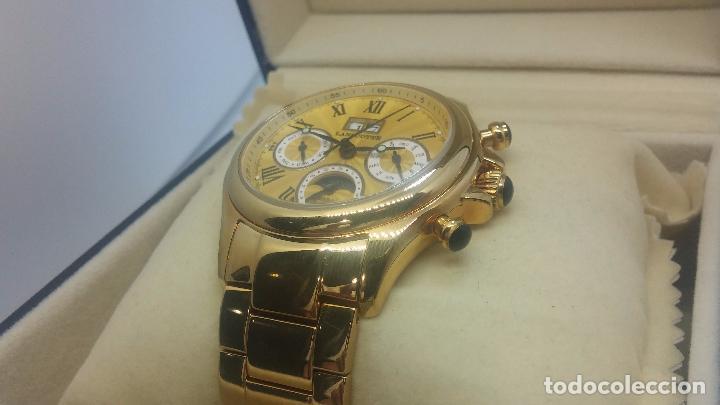 Relojes automáticos: Reloj automatico de caballero Astronomy de Lancoste, seminuevo, dos puestas - Foto 15 - 101950579