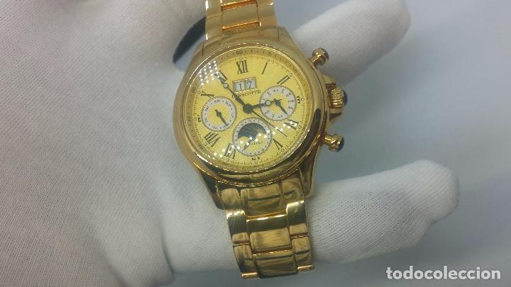Relojes automáticos: Reloj automatico de caballero Astronomy de Lancoste, seminuevo, dos puestas - Foto 16 - 101950579