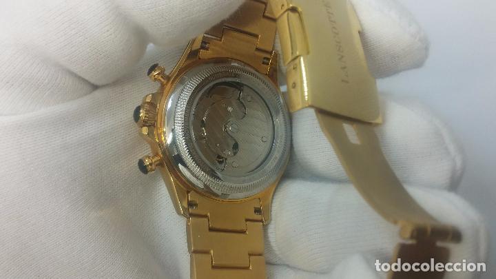 Relojes automáticos: Reloj automatico de caballero Astronomy de Lancoste, seminuevo, dos puestas - Foto 18 - 101950579