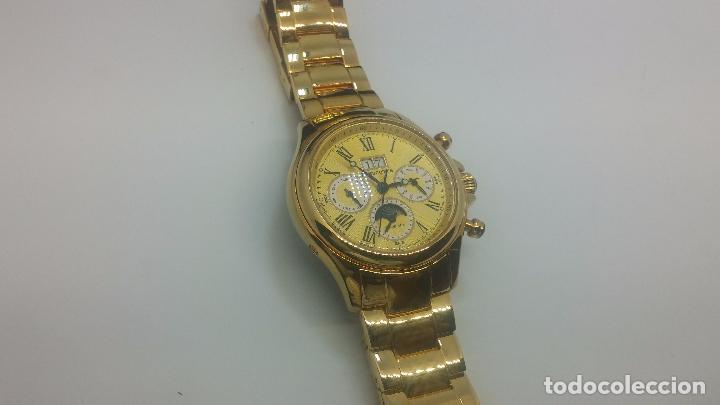 Relojes automáticos: Reloj automatico de caballero Astronomy de Lancoste, seminuevo, dos puestas - Foto 21 - 101950579