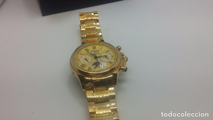Relojes automáticos: Reloj automatico de caballero Astronomy de Lancoste, seminuevo, dos puestas - Foto 22 - 101950579