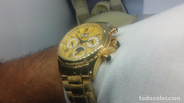 Relojes automáticos: Reloj automatico de caballero Astronomy de Lancoste, seminuevo, dos puestas - Foto 27 - 101950579