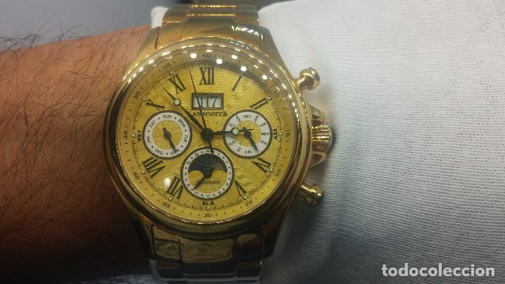 Relojes automáticos: Reloj automatico de caballero Astronomy de Lancoste, seminuevo, dos puestas - Foto 28 - 101950579