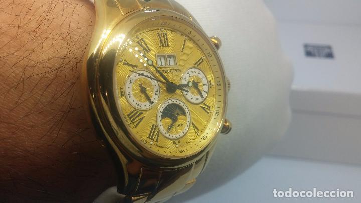 Relojes automáticos: Reloj automatico de caballero Astronomy de Lancoste, seminuevo, dos puestas - Foto 29 - 101950579